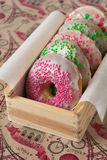 Colorful homemade donuts Stock Photo