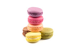 Colorful homemade macaroons Royalty Free Stock Images