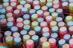 Paint bottles Royalty Free Stock Photo