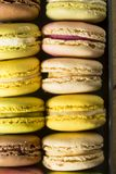 Colorful Homemade Sweet French Macarons royalty free stock photo