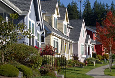 Colorful Homes stock image