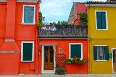 Colorful Homes in Burano Italy Royalty Free Stock Photo