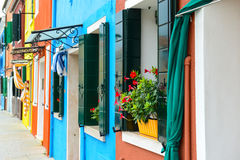 Colorful Homes in Burano Italy Royalty Free Stock Photography