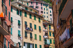 Colorful Homes in Cinque Terre Royalty Free Stock Photos