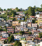 Colorful Homes and Hotels on Martinique Coast Royalty Free Stock Photo