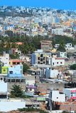 Colorful homes in Hyderabad city Royalty Free Stock Photo