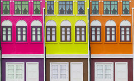 Colorful Homes Stock Images