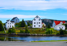 Colorful homes in Newfoundland Royalty Free Stock Photo