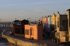 Colorful Homes On The Esplanade In Capitola, Calif Royalty Free Stock Photography