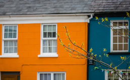 Colorful homes in Sneem Royalty Free Stock Image