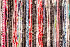 Colorful homespun fabric Stock Photography