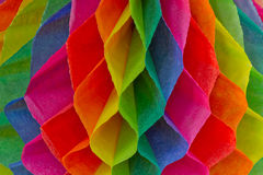 Colorful Honeycomb Paper. Stock Photo