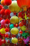 Colorful Hong Kong Hanging Lanterns. Royalty Free Stock Image