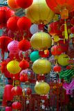 Colorful Hong Kong Hanging Lanterns. Stock Image