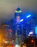 Colorful Hong Kong at night Royalty Free Stock Photo