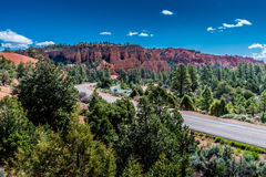 Colorful Hoodoo Rock Formations Near Bryce Canyon National Park, Royalty Free Stock Photo