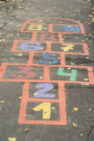 Colorful hopscotch Stock Photography