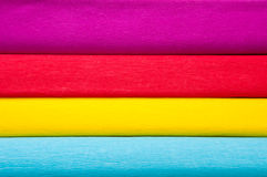 Colorful horizontal background of crepe paper Royalty Free Stock Photo