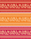 Colorful horizontal banners in classical floral style Stock Images