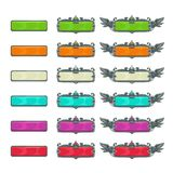 Colorful horizontal buttons for game or web design. Royalty Free Illustration
