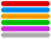 Colorful horizontal, long buttons, banners with rounded corners Stock Photo