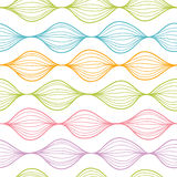 Colorful horizontal ogee seamless pattern Stock Photos