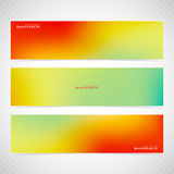Colorful Horizontal Set Of Banners . Modern Vector Royalty Free Stock Photography