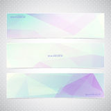 Colorful Horizontal Set Of Banners With Royalty Free Stock Photography