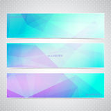 Colorful Horizontal Set Of Banners With Stock Photos