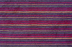 Colorful  horizontal stripes carpet Royalty Free Stock Images