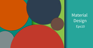 Colorful horizontal vector banner in a material design style. Vector Eps10 Royalty Free Stock Photography