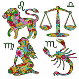 Colorful horoscope set 2 Stock Photography