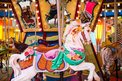 Colorful Horse on a Carousel Royalty Free Stock Images