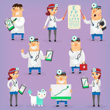 Colorful hospital doctors Stock Photos