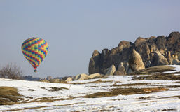 Colorful hot air ballon Royalty Free Stock Images
