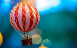 Colorful Hot Air Balloon Basket royalty free stock images
