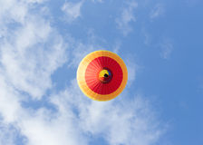 Colorful hot air balloon. On blue sky Royalty Free Stock Photos