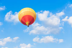 Colorful hot air balloon. With blue sky background Stock Images