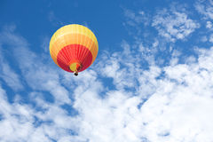 Colorful hot air balloon. With blue sky background Royalty Free Stock Photos