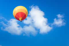 Colorful hot air balloon. With blue sky background Royalty Free Stock Image