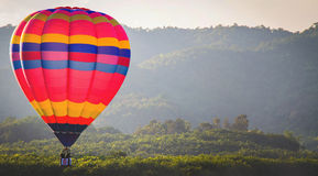 Colorful hot air balloon with blue sky Stock Image