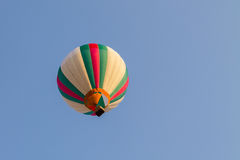 Colorful hot air balloon in the blue sky Stock Photo
