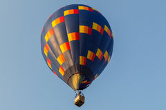 Colorful hot air balloon in the blue sky Stock Images