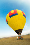 Colorful hot air balloon with blue sky Royalty Free Stock Photos