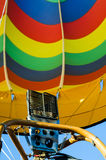 Colorful hot air balloon burner close up Royalty Free Stock Images