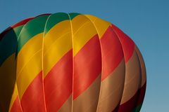 Colorful hot air balloon detail Royalty Free Stock Images