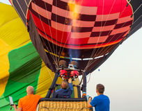 Colorful hot air balloon early in the morning Royalty Free Stock Image