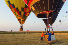 Colorful hot air balloon early in the morning Stock Photography