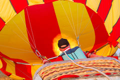 Colorful hot air balloon early in the morning Royalty Free Stock Photography