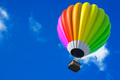 Colorful Hot Air Balloon in Flight Stock Photo